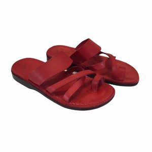 Jerusalem Good Shepherd Leather Toe Loop Sandals